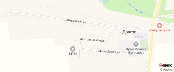Центральная улица на карте Долгого села с номерами домов
