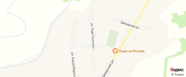 Улица Л.Толстого на карте Казацкого села с номерами домов