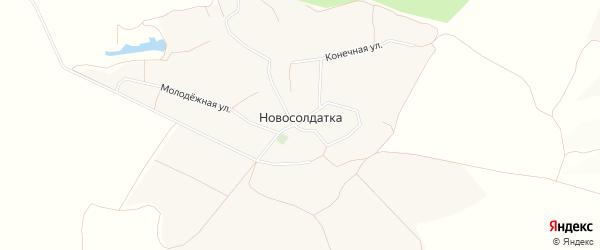 Карта села Новосолдатки в Белгородской области с улицами и номерами домов