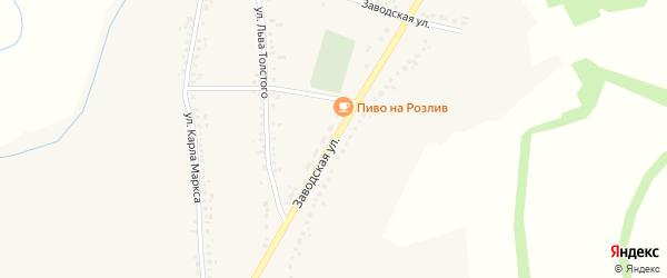 Заводская улица на карте Казацкого села с номерами домов