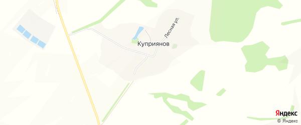 Карта хутора Куприянова в Белгородской области с улицами и номерами домов