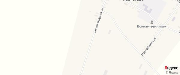 Ленинградская улица на карте деревни Кречетово с номерами домов