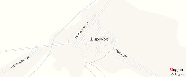 Пролетарская улица на карте Широкого села с номерами домов