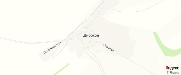 Карта Широкого села в Белгородской области с улицами и номерами домов