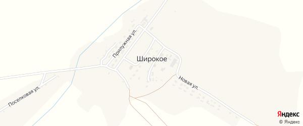 Центральная улица на карте Широкого села с номерами домов