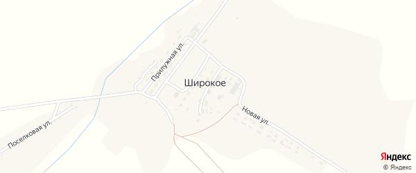 Улица Мира на карте Широкого села с номерами домов