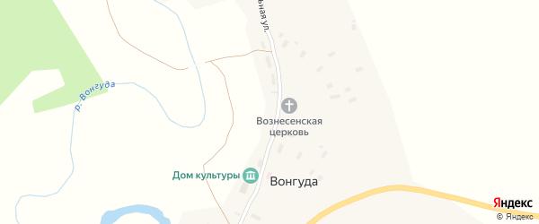 Центральная улица на карте деревни Вонгуды с номерами домов