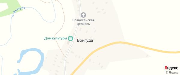 Горный переулок на карте деревни Вонгуды с номерами домов