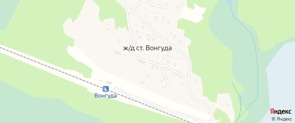 Железнодорожная улица на карте железнодорожной станции Вонгуды с номерами домов