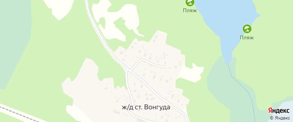 Улица Дружбы на карте железнодорожной станции Вонгуды с номерами домов