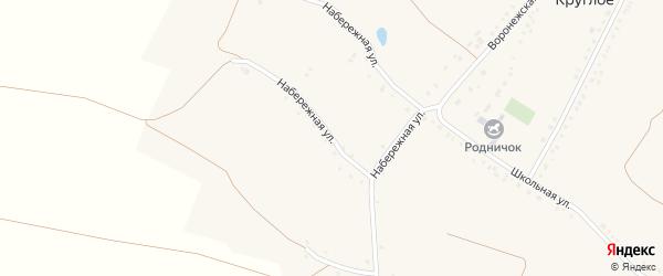 Набережная улица на карте Круглого села с номерами домов