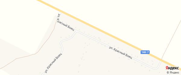 Улица Красный Боец на карте Круглого села с номерами домов
