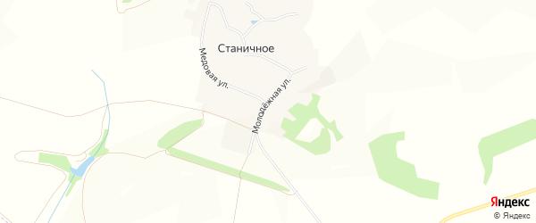 Карта Станичного села в Белгородской области с улицами и номерами домов