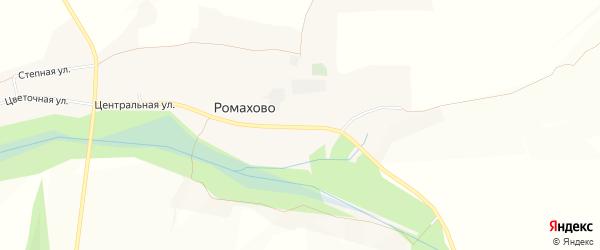 Карта хутора Ромахово в Белгородской области с улицами и номерами домов