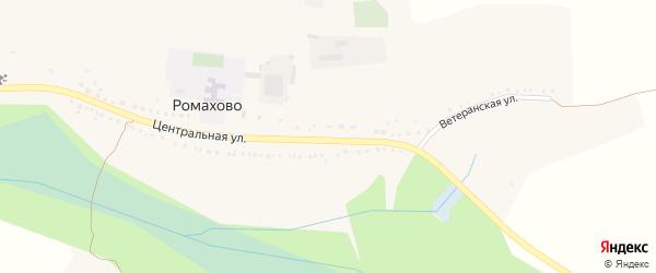 Дорожная улица на карте хутора Ромахово с номерами домов