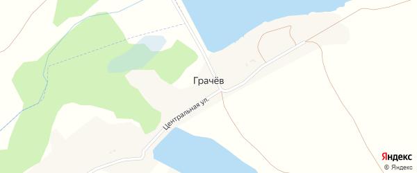 Центральная улица на карте хутора Грачева с номерами домов