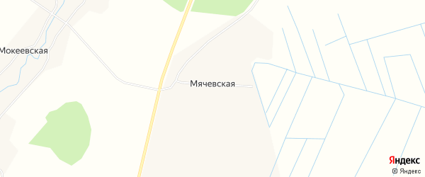 Карта Мячевской деревни в Архангельской области с улицами и номерами домов
