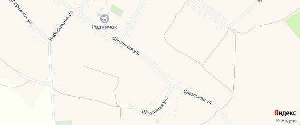 Школьная улица на карте Круглого села с номерами домов