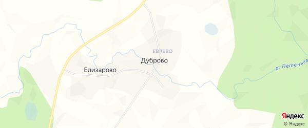 Карта деревни Дуброво в Архангельской области с улицами и номерами домов