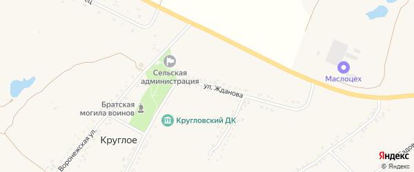 Улица Жданова на карте Круглого села с номерами домов
