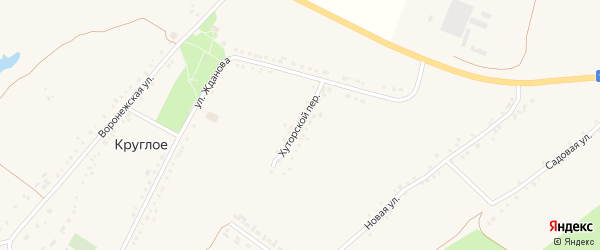 Хуторской переулок на карте Круглого села с номерами домов
