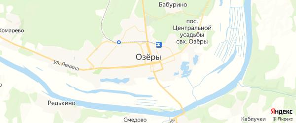 Карта Озер с районами, улицами и номерами домов: Озеры на карте России