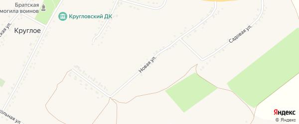 Новая улица на карте Круглого села с номерами домов