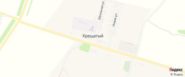 Центральная улица на карте Хрещатого хутора с номерами домов
