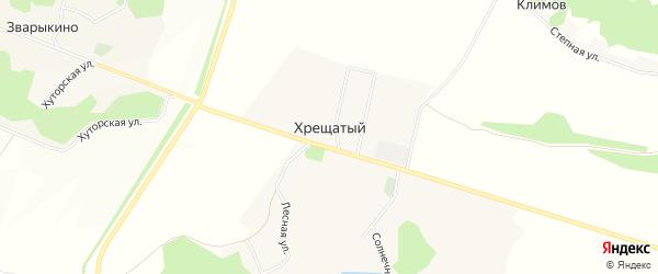 Карта Хрещатого хутора в Белгородской области с улицами и номерами домов
