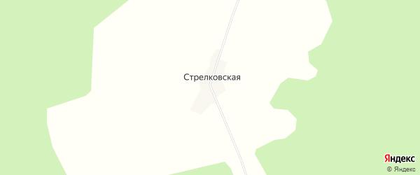 Карта Стрелковской деревни в Архангельской области с улицами и номерами домов