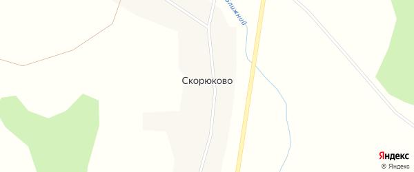 Чуриловская улица на карте деревни Скорюково с номерами домов