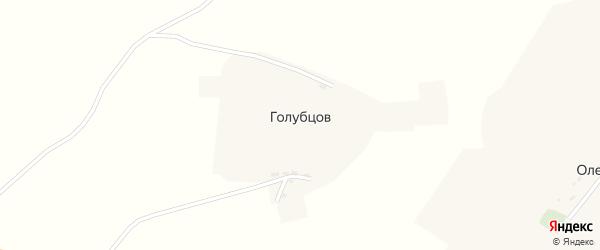 Заветная улица на карте хутора Голубцова с номерами домов