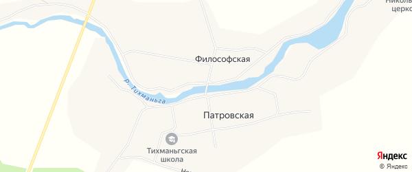 Карта Философской деревни в Архангельской области с улицами и номерами домов