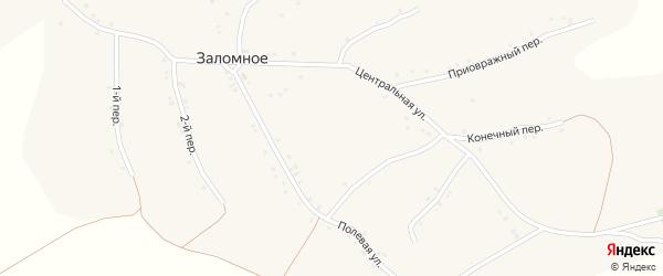 Приовражный переулок на карте Заломного села с номерами домов