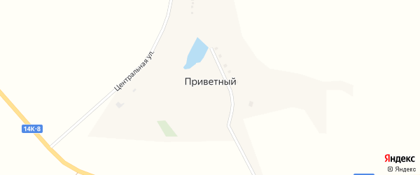 Центральная улица на карте Приветного хутора с номерами домов