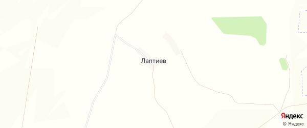 Карта хутора Лаптиев в Белгородской области с улицами и номерами домов