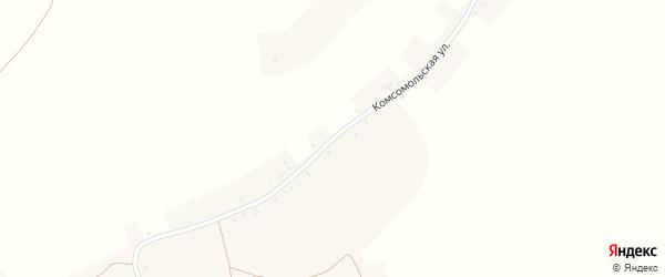 Комсомольская улица на карте села Ураково с номерами домов