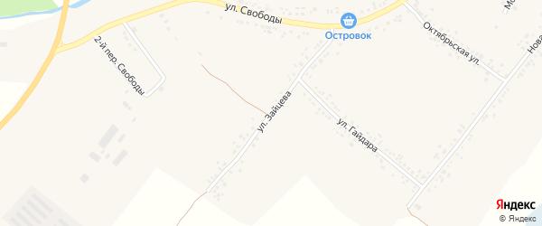Улица Зайцева на карте села Ильинки с номерами домов