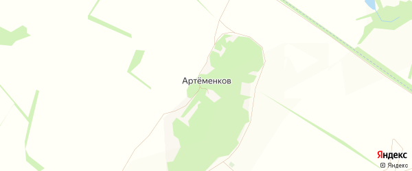 Карта хутора Артеменкова в Белгородской области с улицами и номерами домов