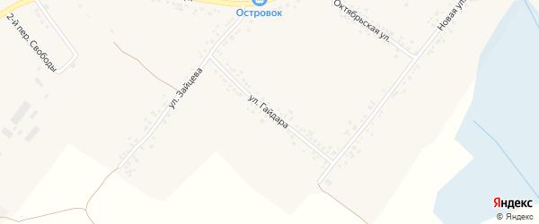 Улица Гайдара на карте села Ильинки с номерами домов