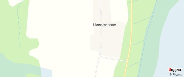 Карта деревни Никифорово в Архангельской области с улицами и номерами домов