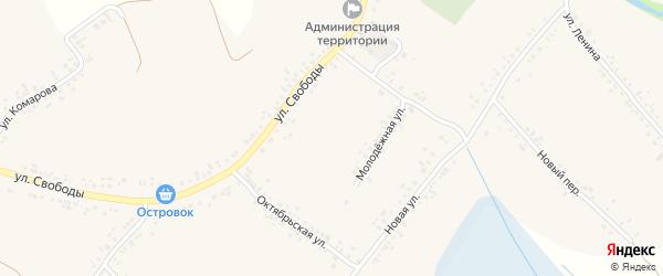 Новый переулок на карте села Ильинки с номерами домов