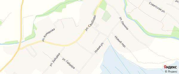 Карта села Ильинки в Белгородской области с улицами и номерами домов