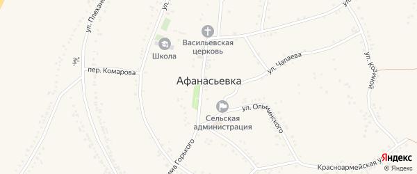 Улица Максима Горького на карте села Афанасьевки с номерами домов