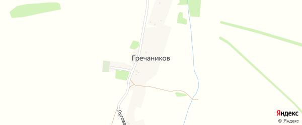 Луговая улица на карте хутора Гречаникова с номерами домов