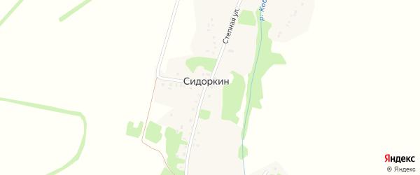Подгорная улица на карте хутора Сидоркина с номерами домов