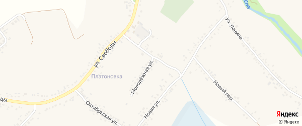 Молодежная улица на карте села Ильинки с номерами домов