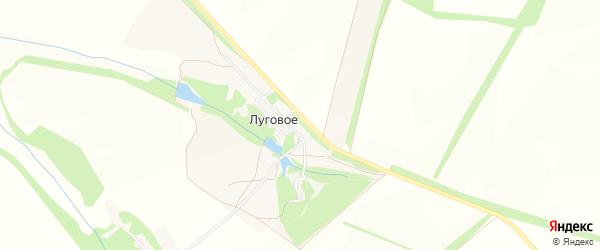Карта поселка Лугового в Белгородской области с улицами и номерами домов