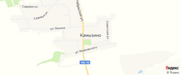Карта села Камызино в Белгородской области с улицами и номерами домов