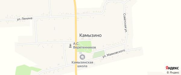 Октябрьская улица на карте села Камызино с номерами домов